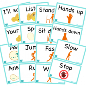 ESL Classroom Action/Instruction Flash Cards