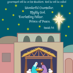 Holy Night Christmas Card Cute-Size