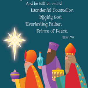 Wise Men Christmas Card Cute-Size