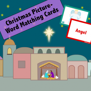 Christmas Picture-Word Matching Cards