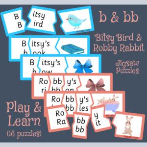 Bitsy Bird & Robby Rabbit /b/ Jigsaw Puzzles